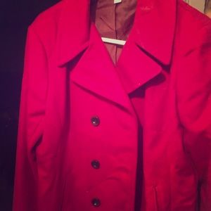 Pink Trench Coat w Silk Lining